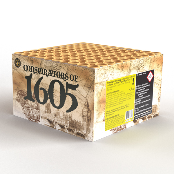 Conspirators of 1605 | Cakes & Barrages | Dynamic Fireworks