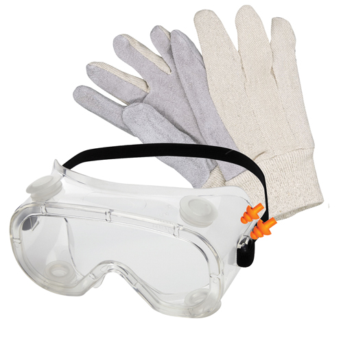 Goggles, Gloves & Ear Plugs