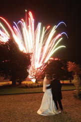 Wedding fireworks - Gosfield wedding low noise fireworks