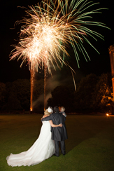 Wedding fireworks - Bride and groom