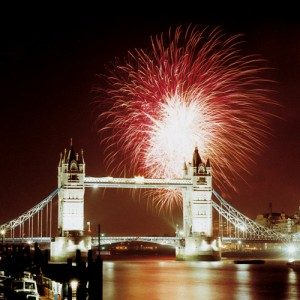 Firework displays - Tower Bridge London