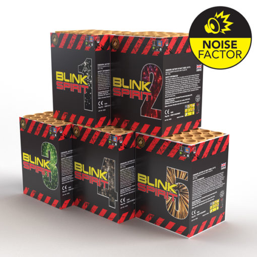 Blink Spirit 5 Pack | Cakes & Barrages | Dynamic Fireworks