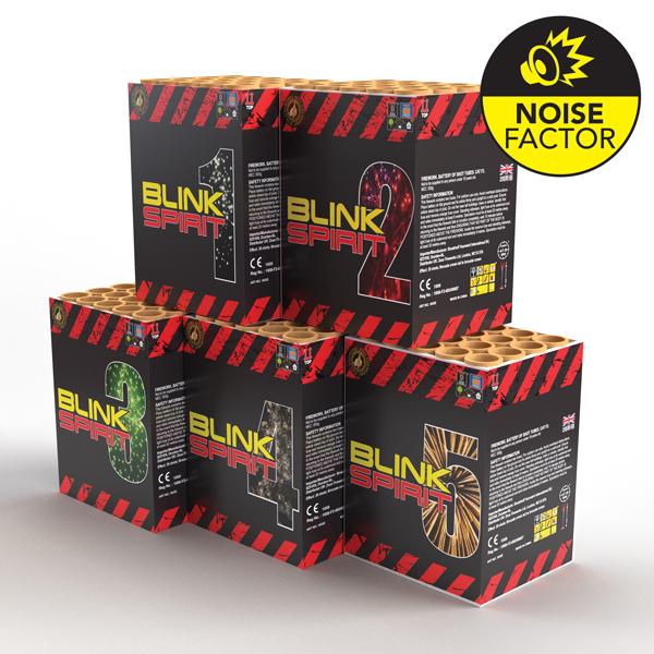 Blink Spirit 5 Pack | Cakes & Barrages | Dynamic Fireworks