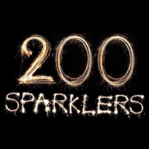 200 18 Neon Sparklers