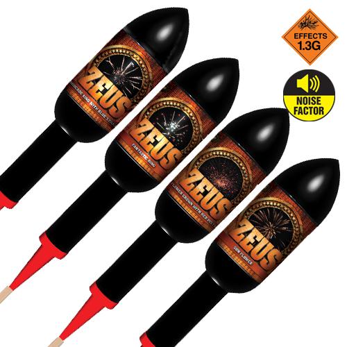 Zeus Rocket 4 Pack