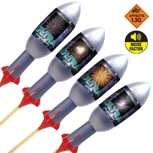 Ultra Rockets 4 Pack