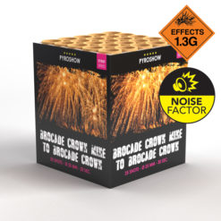 Brocade Crown with Brocade Mine | Cakes & Barrages | Dynamic Fireworks
