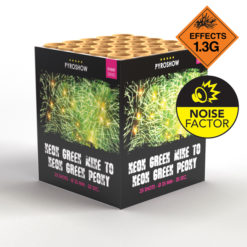 Neon Green Mine to Neon Green Peony | Cakes & Barrages | Dynamic Fireworks