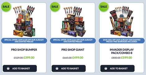 Save money on Fireworks | Discounted Display Firework Packs | Dynamic Fireworks