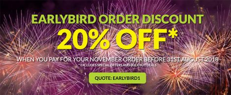 Save money on Fireworks | Earlybird Discounts | Dynamic Fireworks