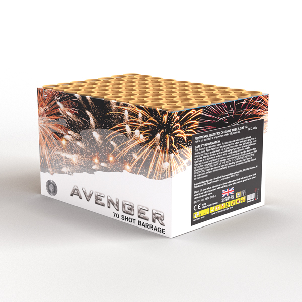 Avenger | Cakes & Barrages | Dynamic Fireworks