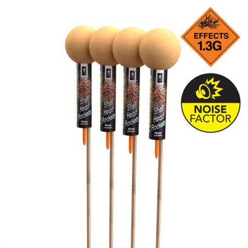 Shell Head 4 Pack   Rockets   Dynamic Fireworks