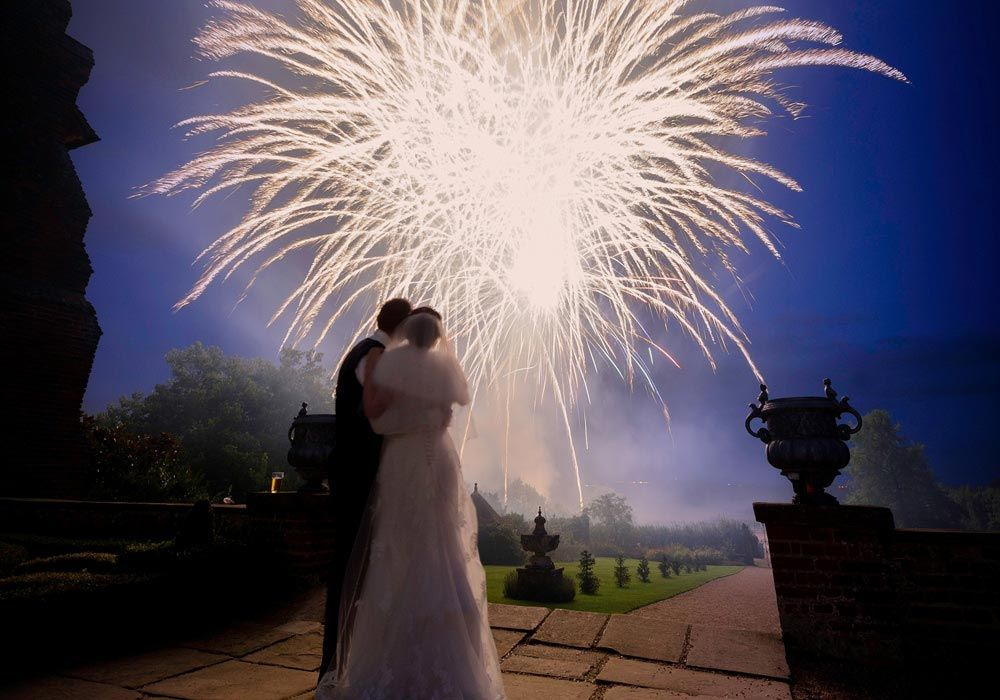 Wedding Fireworks Layer Marney Towers