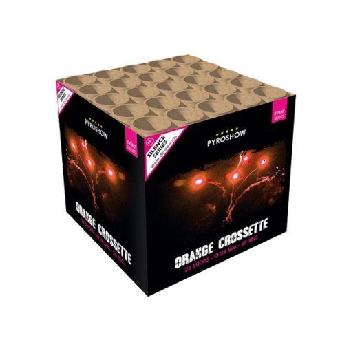 Orange Crossette | Cakes & Barrages | Dynamic Fireworks