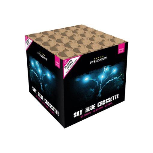 Sky Blue Crossette | Cakes & Barrages | Dynamic Fireworks