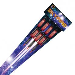 sky fire firework rockets