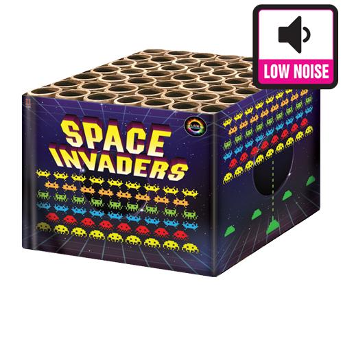 SPACE-INVADER barrage fireworks